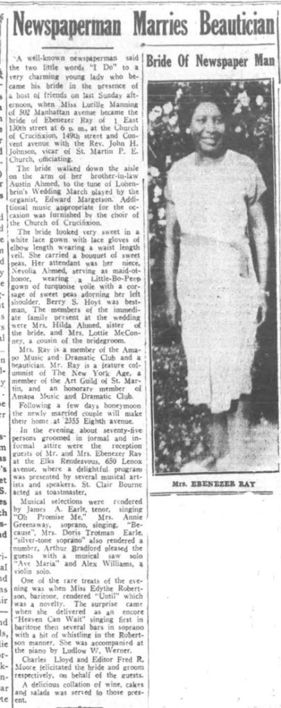 Newspaperman Marries Beautician