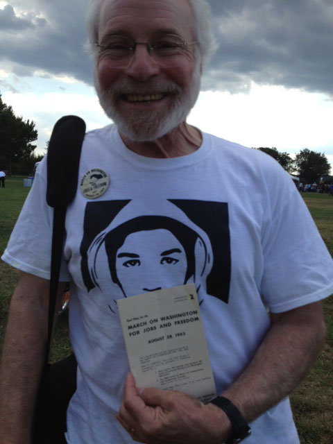 Peter Sussman, who was at the march in 1963, returned to the National Mall with his children and grandchildren.
