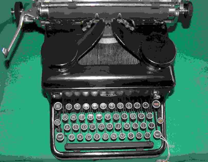 Royal typewriter, circa 1934